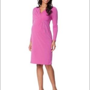 Motherhood Maternity | Pink Faux Wrap Dress